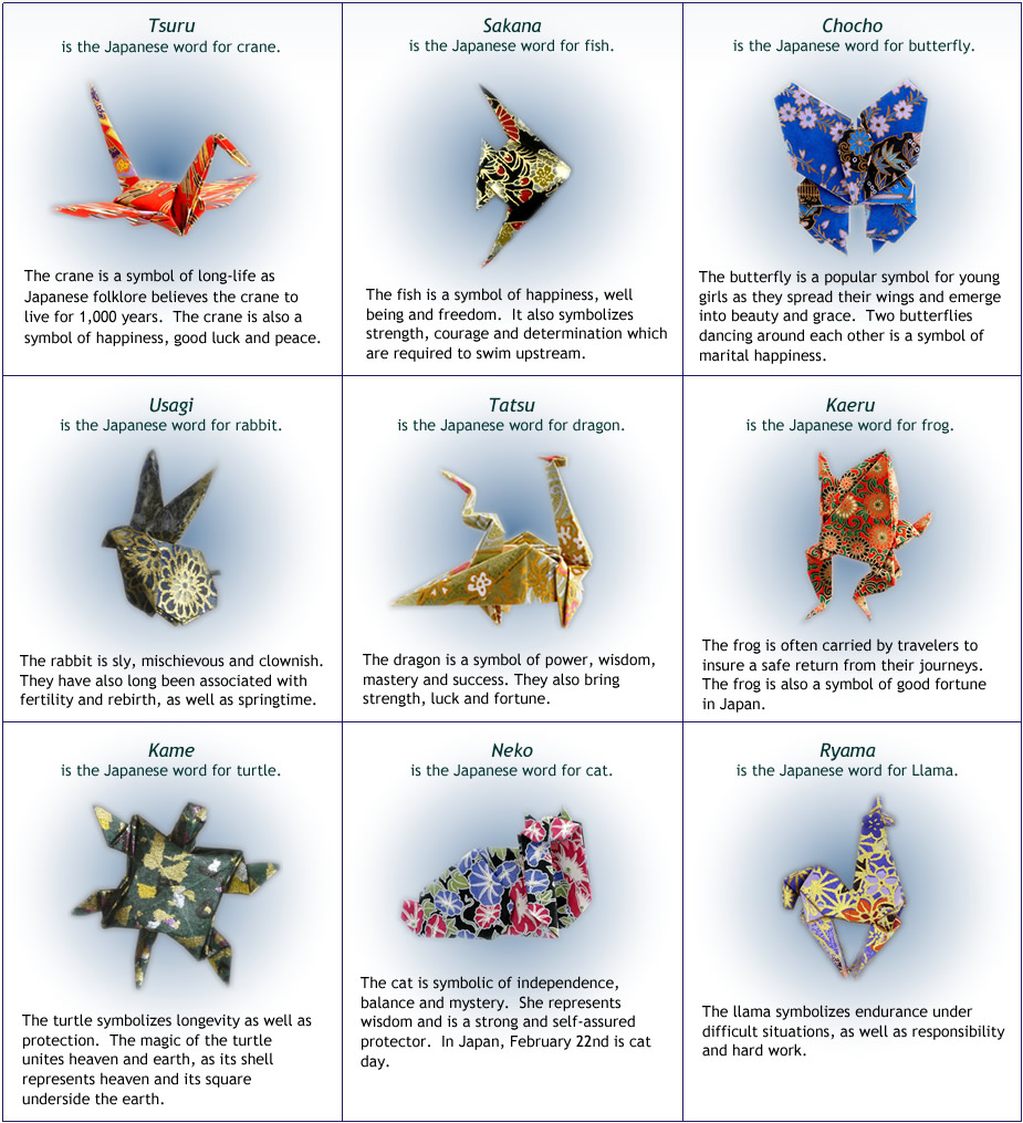 Animal Symbolism The Paper Crane Origami