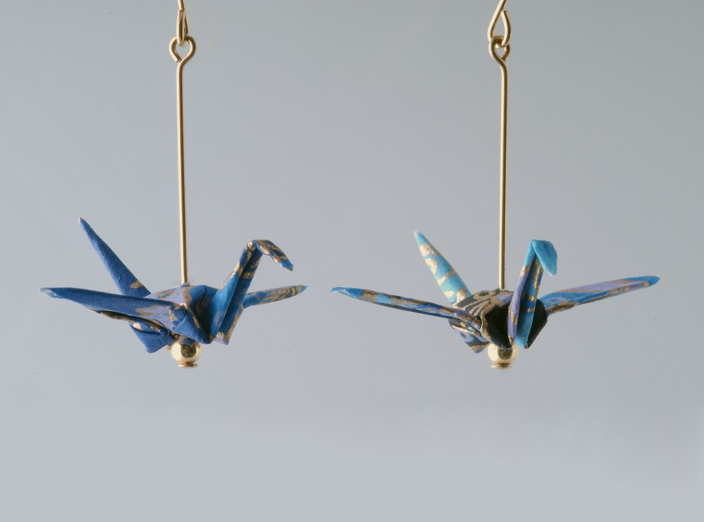 Origami Peace Crane Earrings