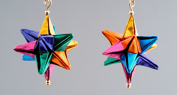 Rainbow Star Earrings
