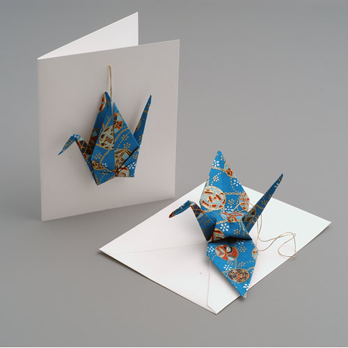 Crane Card Ornament